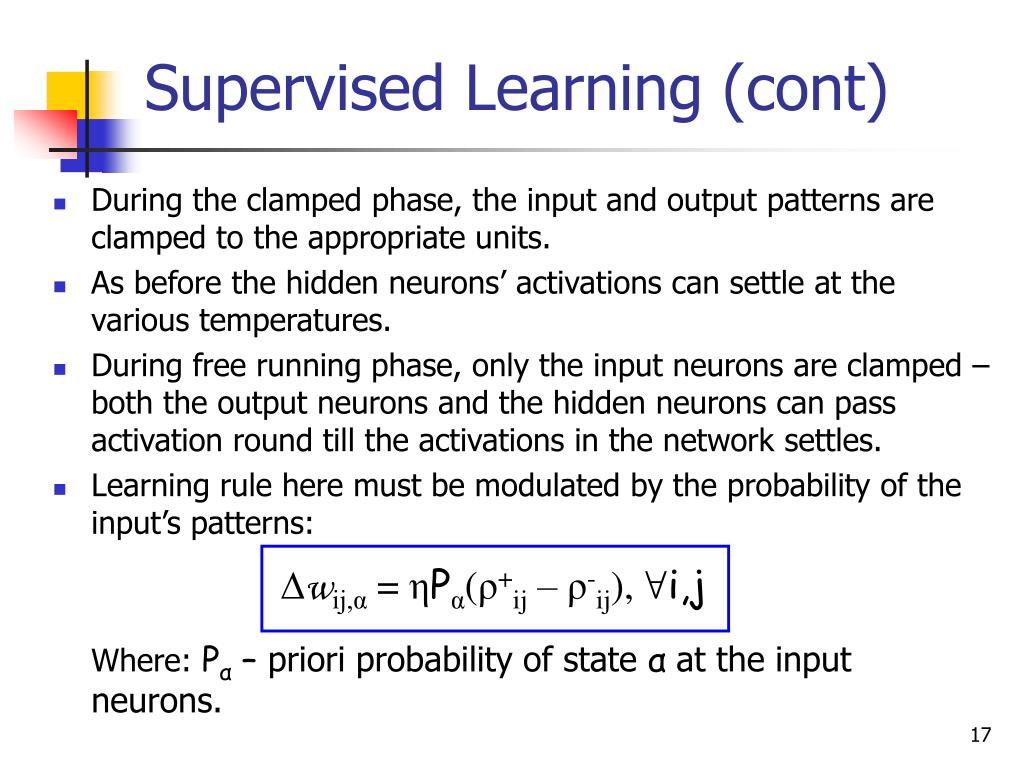 Supervised Learning (cont)