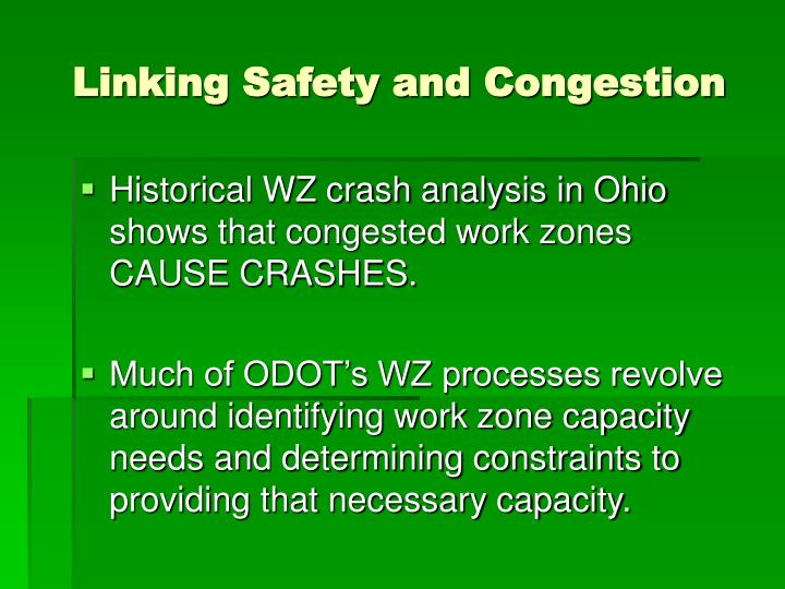 Linking Safety and Congestion