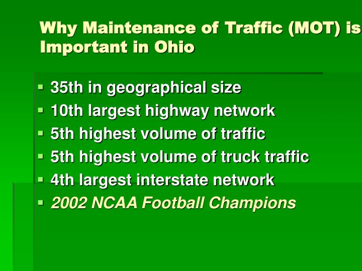Why Maintenance of Traffic (MOT) is Important in Ohio