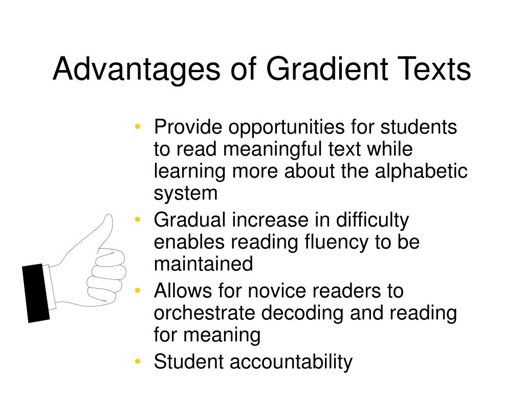 Advantages of Gradient Texts