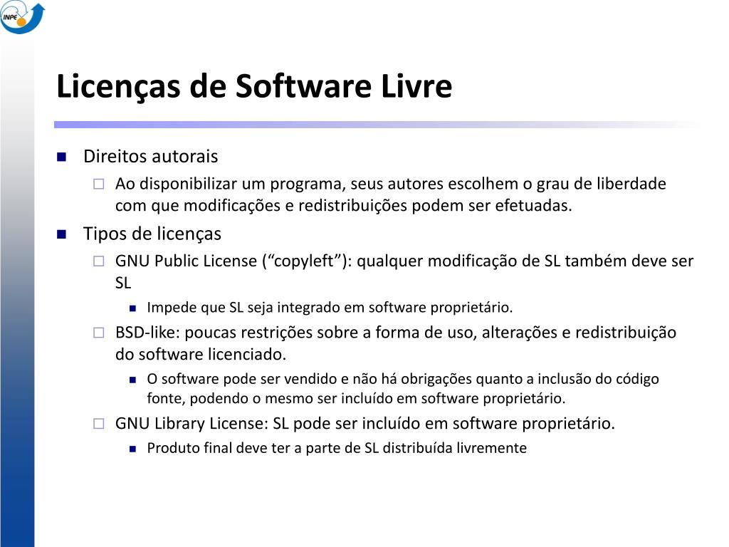 Licenças de Software Livre