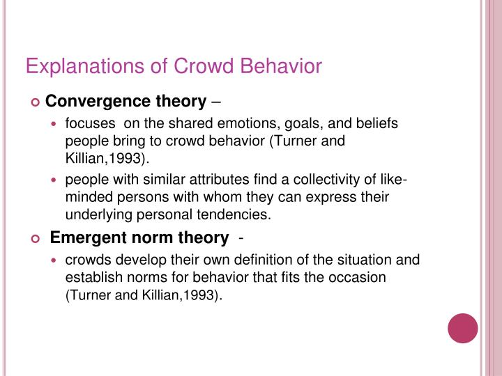 Explanations of Crowd Behavior