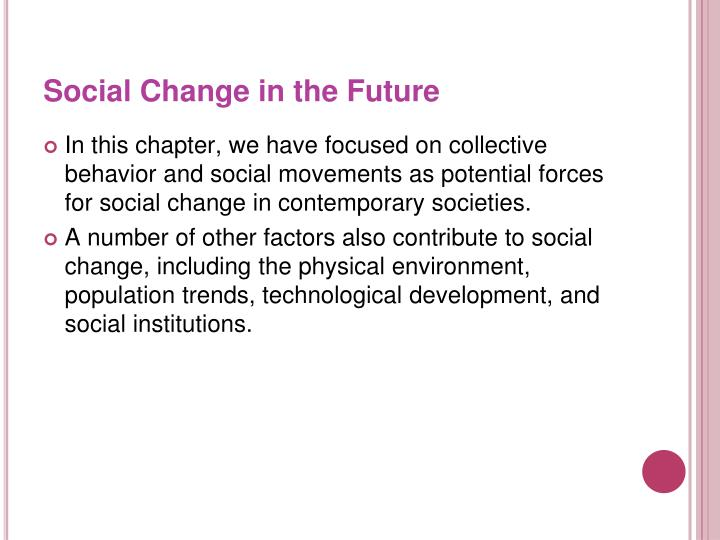 Social Change in the Future