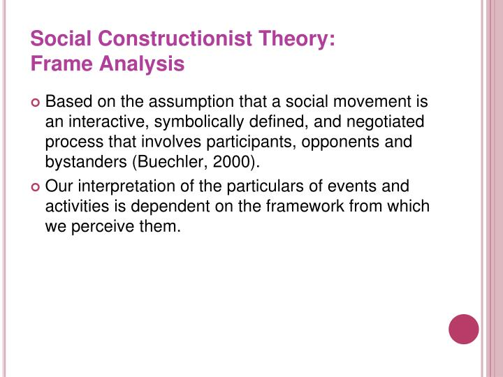 Social Constructionist Theory: