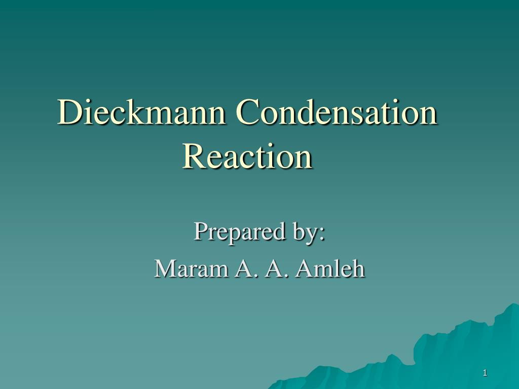 Dieckmann Condensation Reaction
