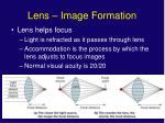 lens image formation