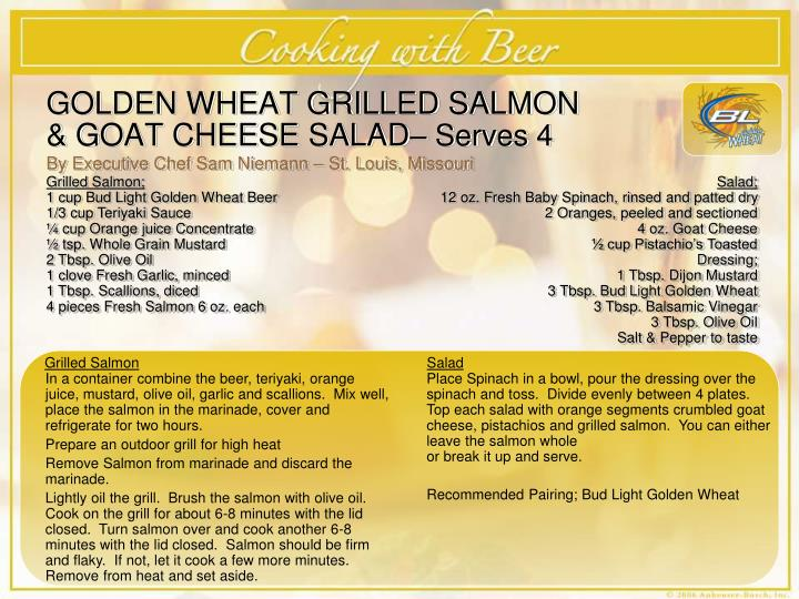 GOLDEN WHEAT GRILLED SALMON