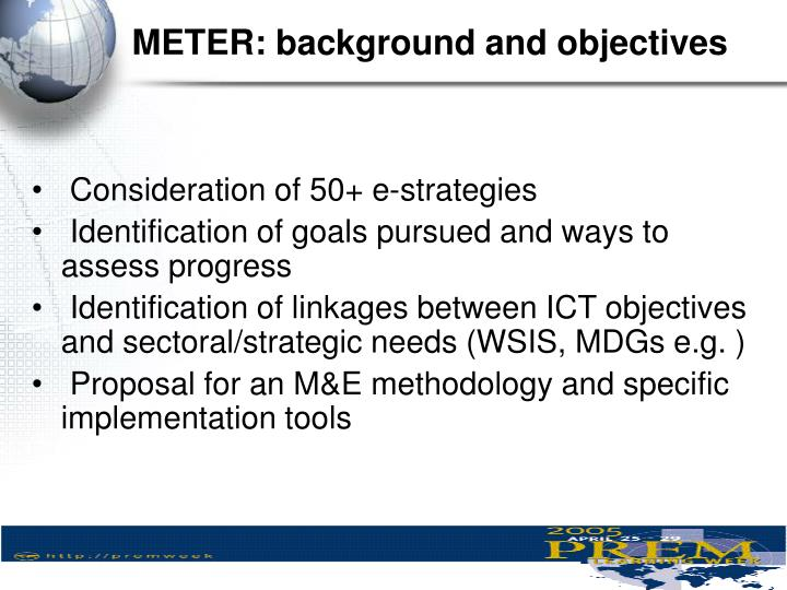METER: background and objectives
