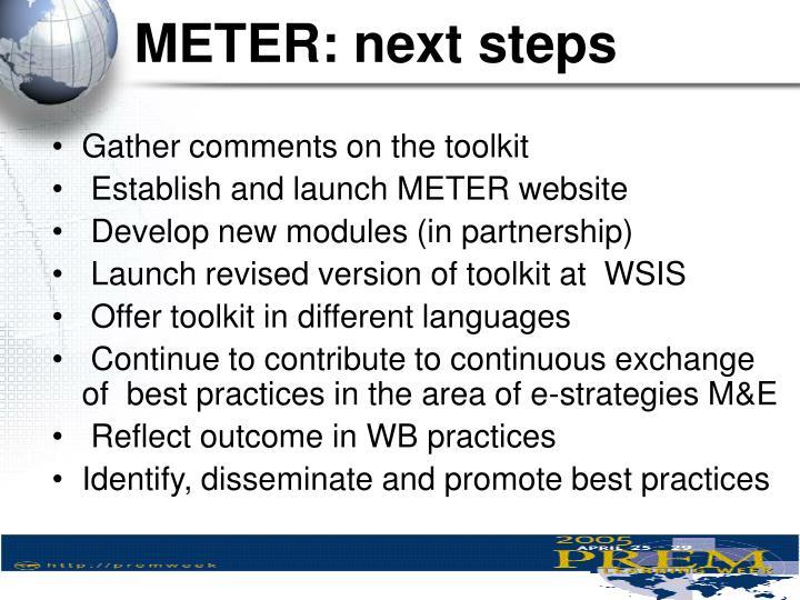 METER: next steps
