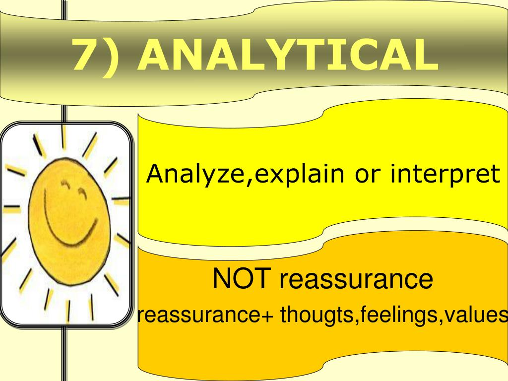 7) ANALYTICAL