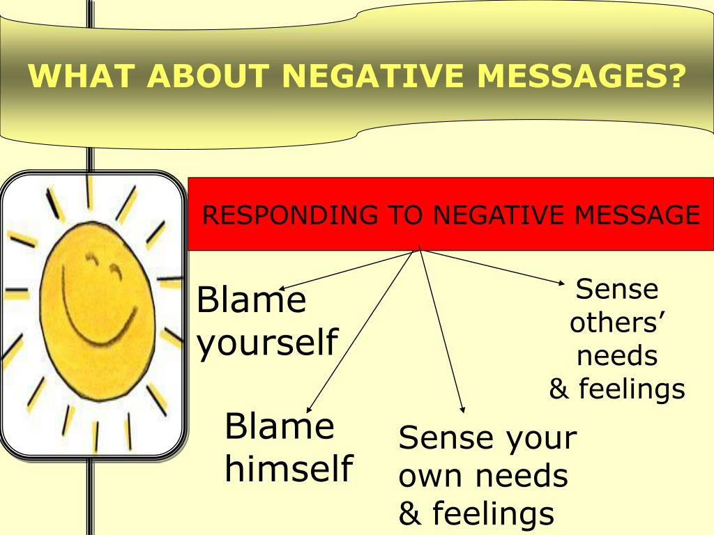 WHAT ABOUT NEGATIVE MESSAGES?