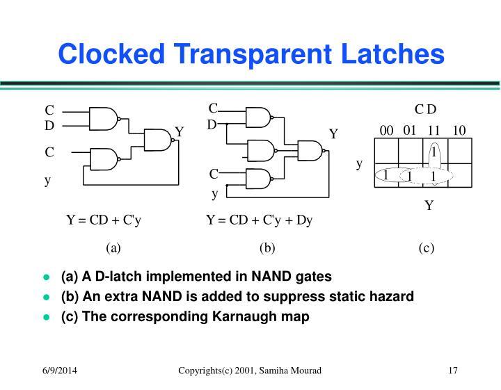 Clocked Transparent Latches