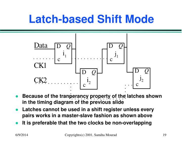 Latch-based Shift Mode