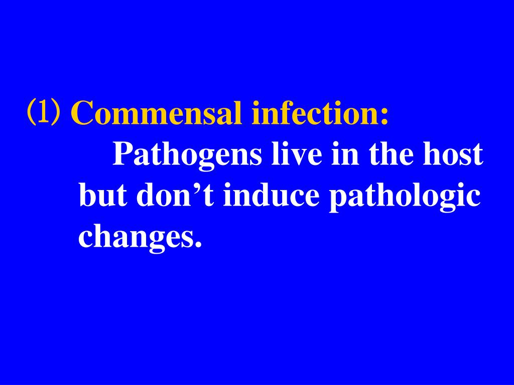 ⑴ Commensal infection: