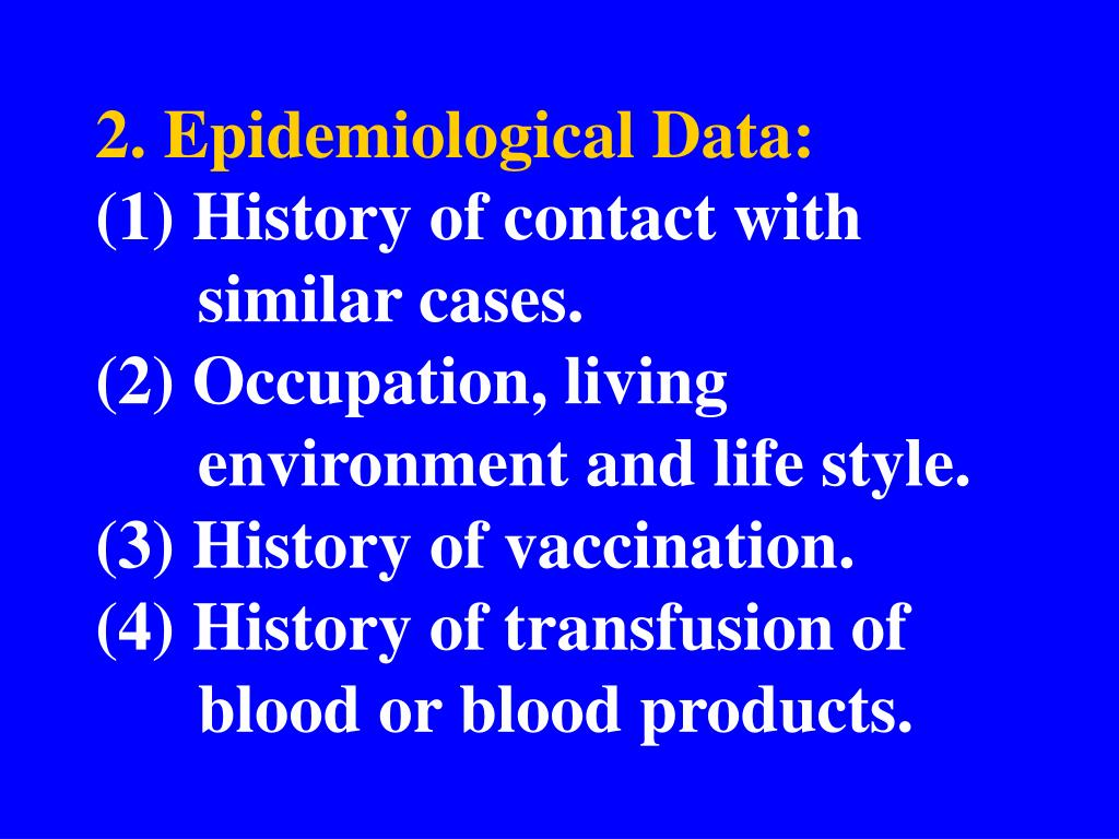 2. Epidemiological Data: