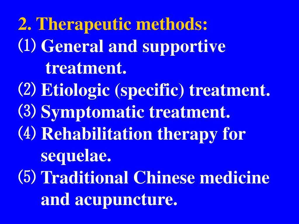 2. Therapeutic methods: