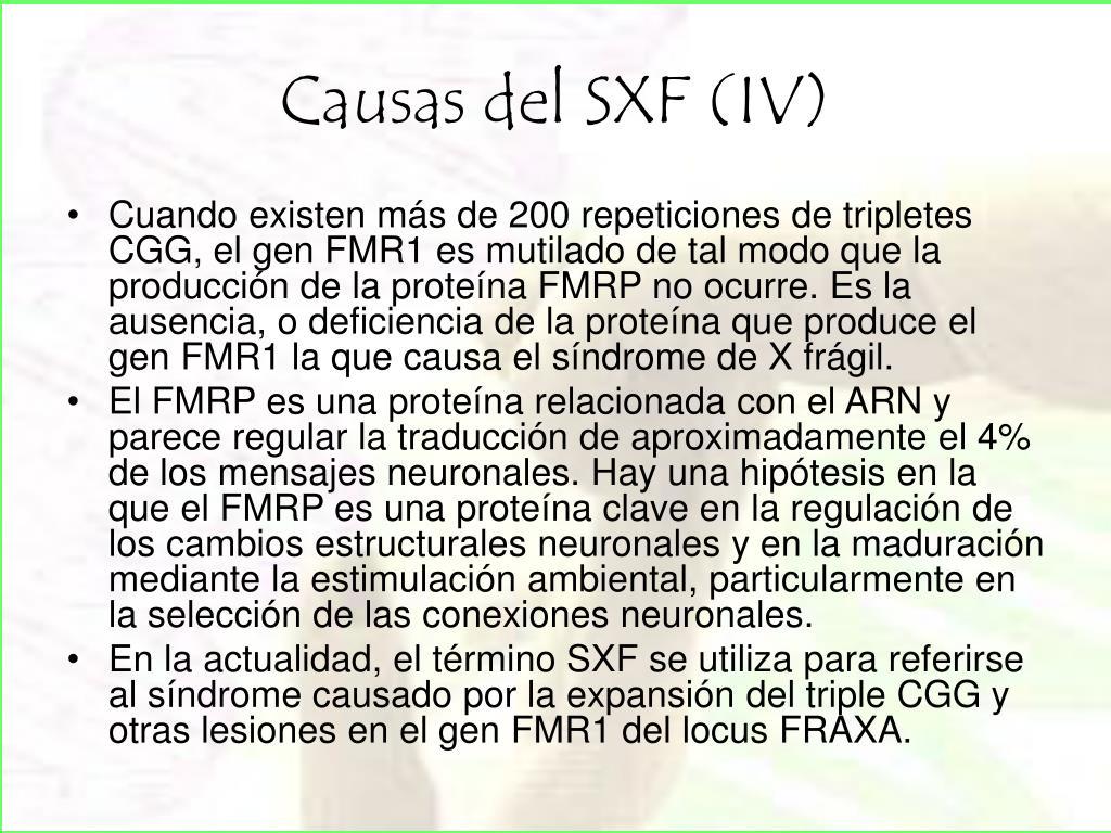 Causas del SXF (IV)