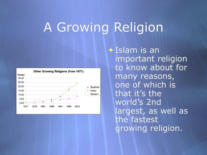 A growing religion