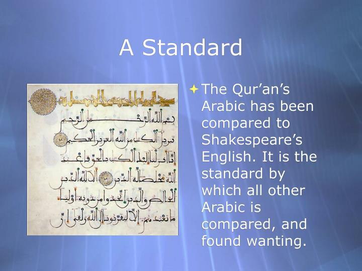 A Standard