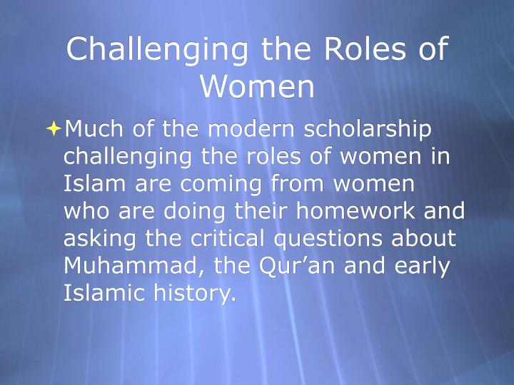 Challenging the Roles of Women