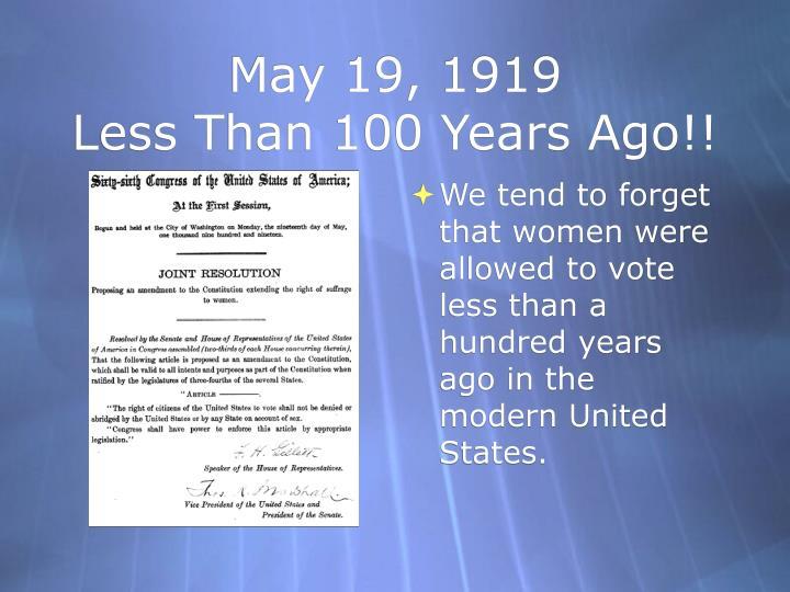 May 19, 1919