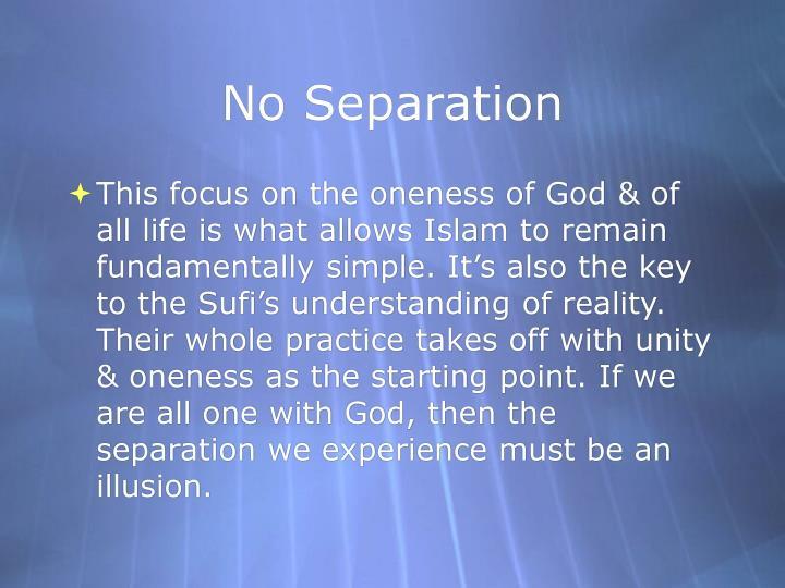 No Separation