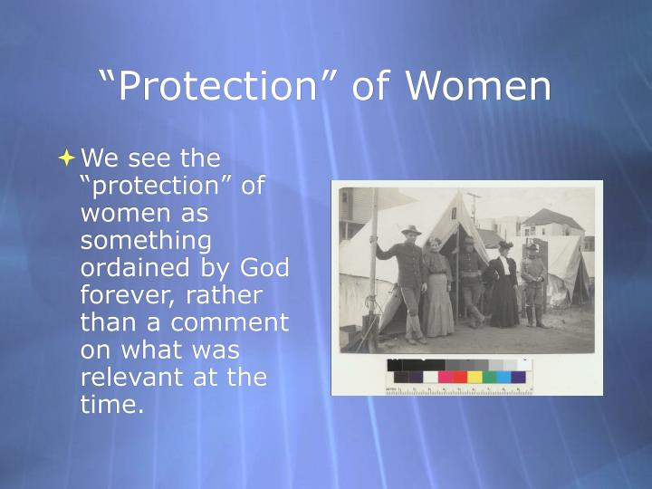 """Protection"" of Women"