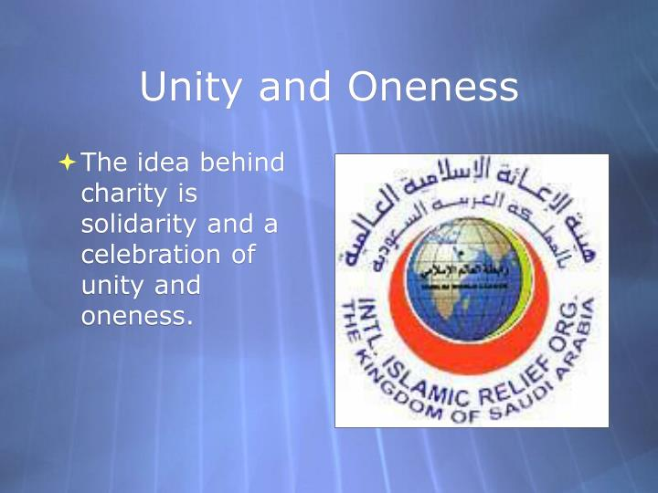 Unity and Oneness