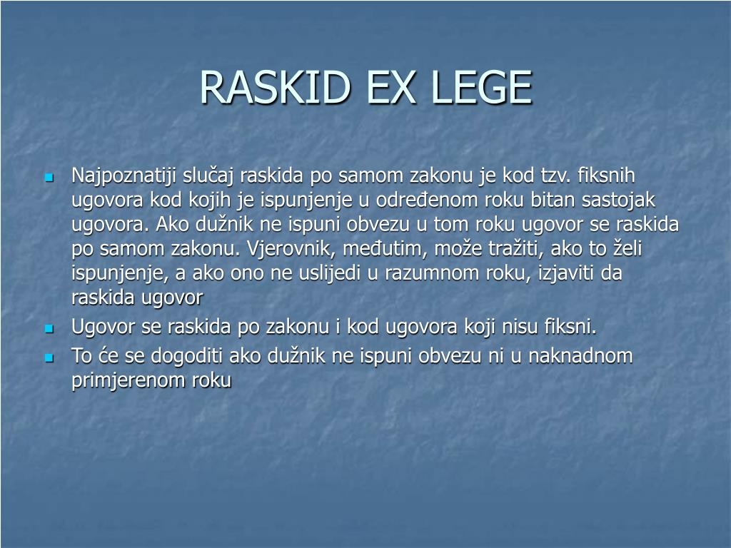 RASKID EX LEGE