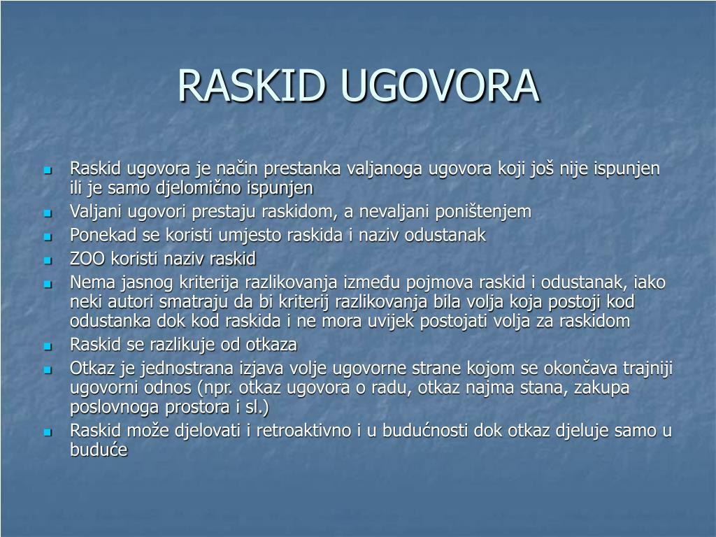 RASKID UGOVORA