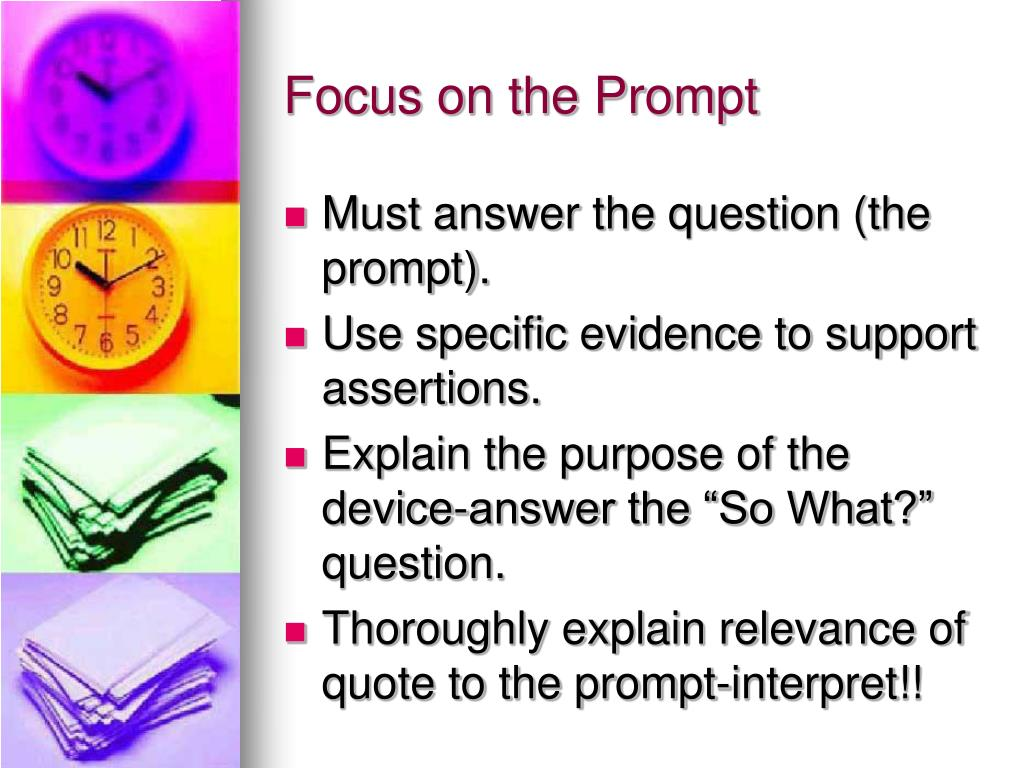 Focus on the Prompt