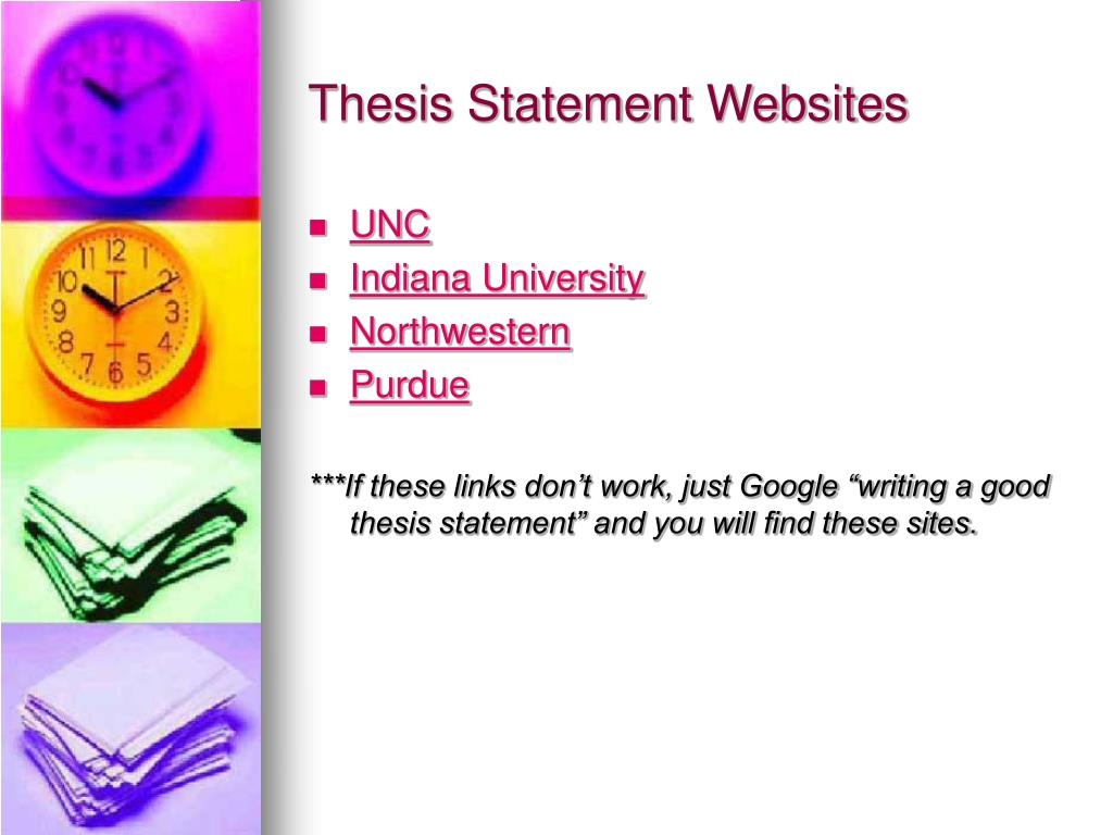 Thesis Statement Websites