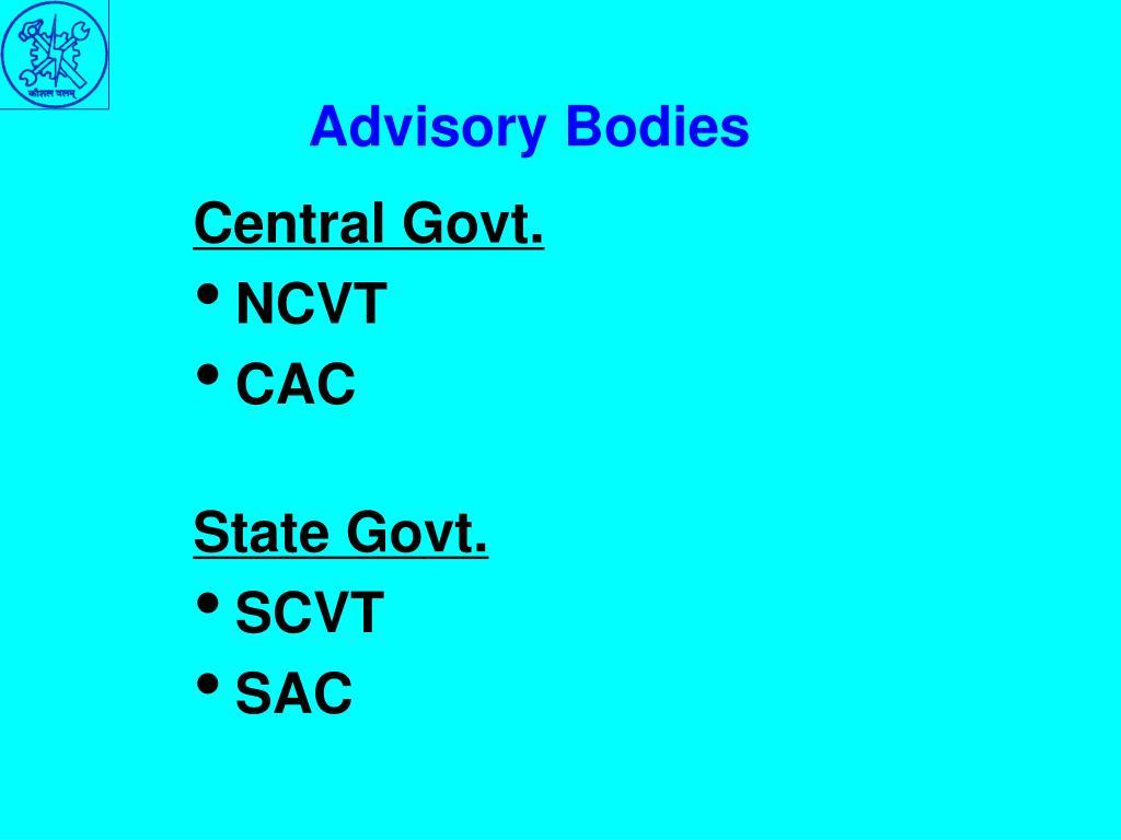 Advisory Bodies