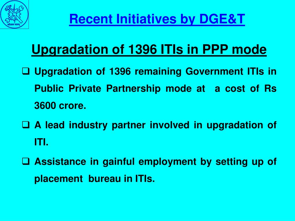 Upgradation of 1396 ITIs in PPP mode