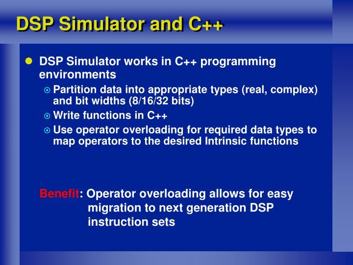 DSP Simulator and C++