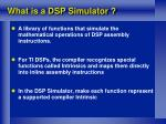 what is a dsp simulator