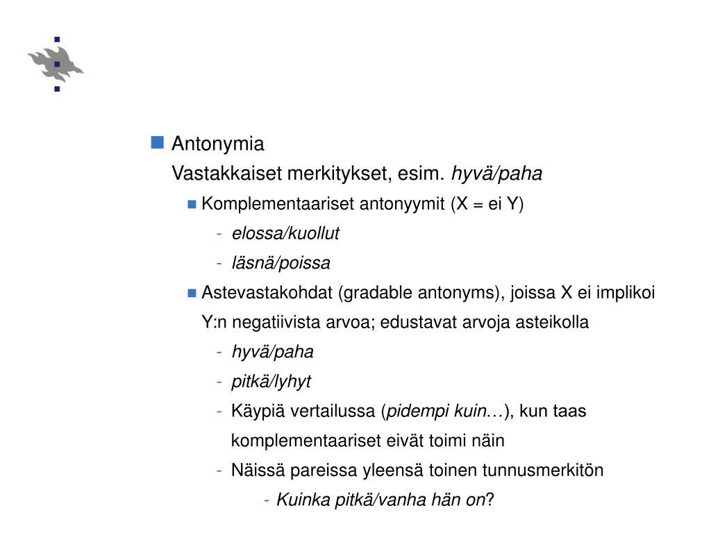 Antonymia