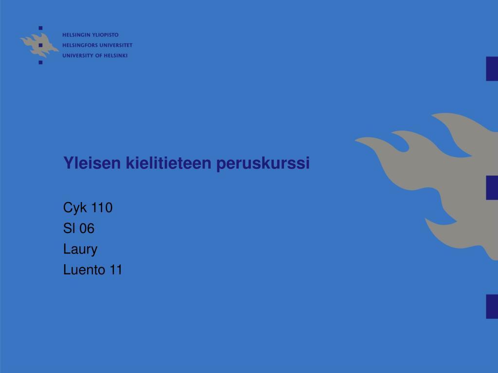 Yleisen kielitieteen peruskurssi