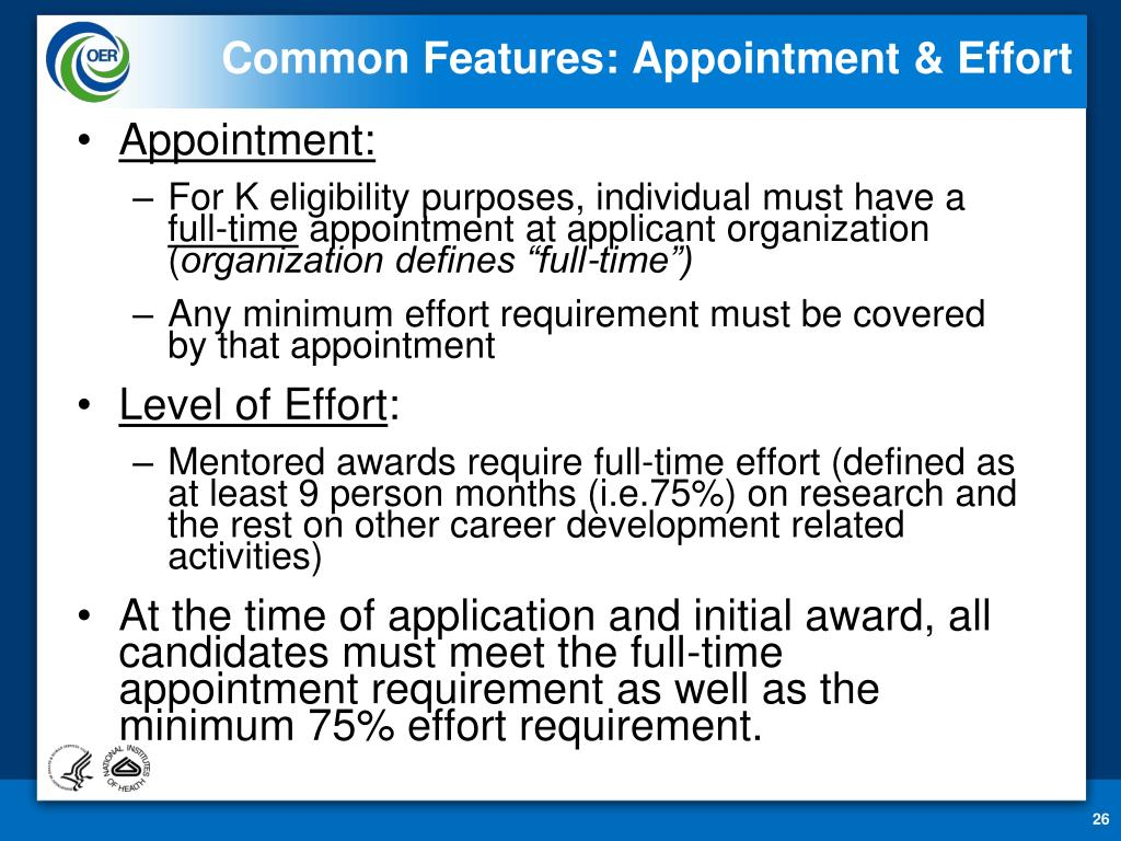 Common Features: Appointment & Effort