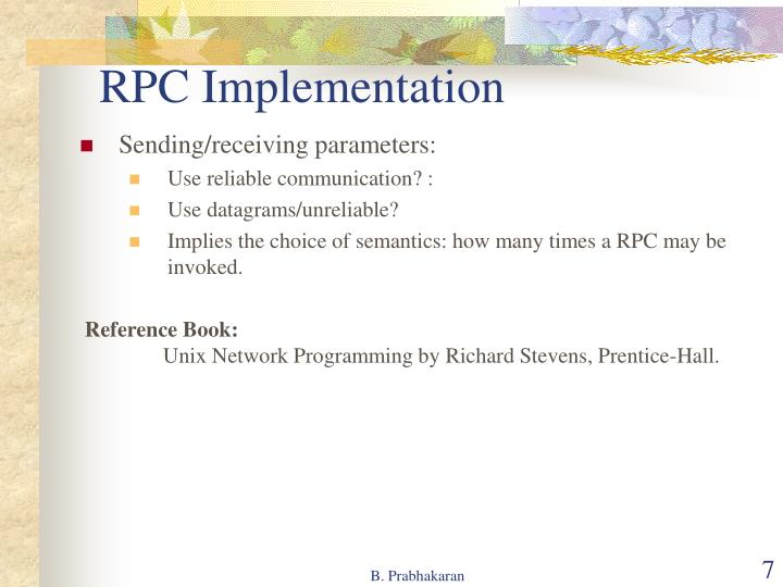 RPC Implementation