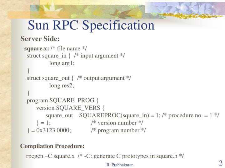 Sun rpc specification