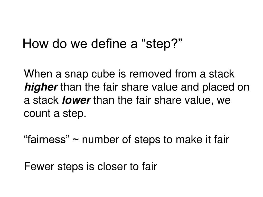 "How do we define a ""step?"""