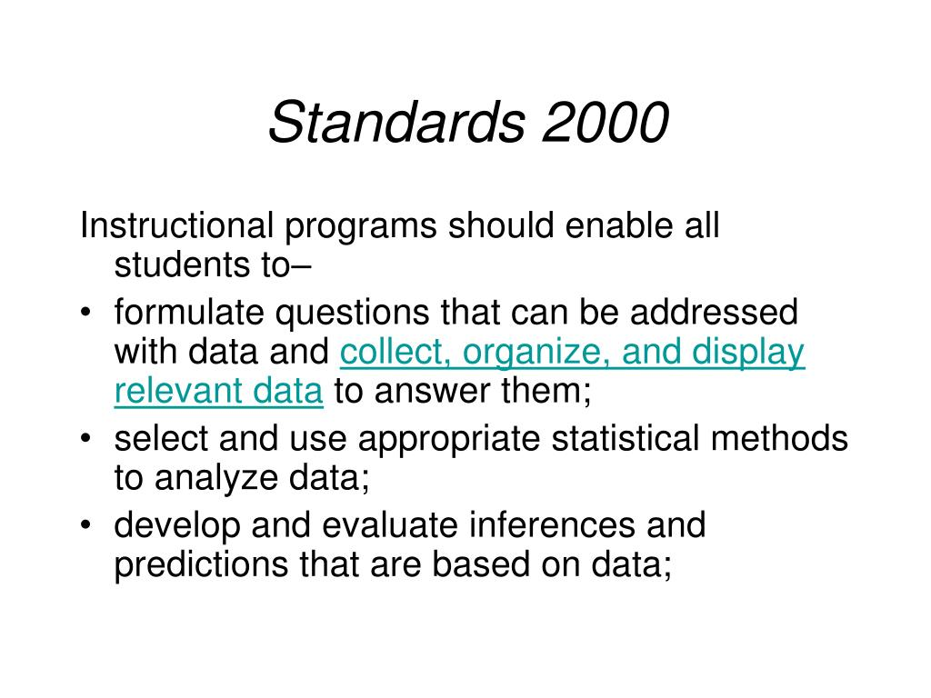 Standards 2000