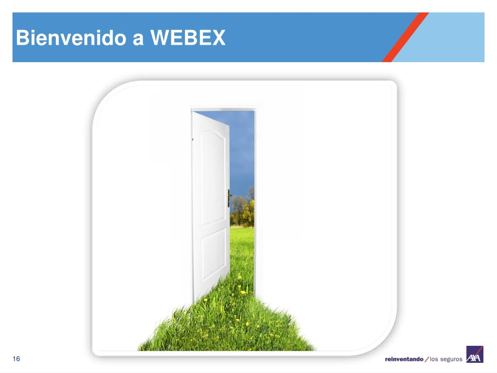 Bienvenido a WEBEX