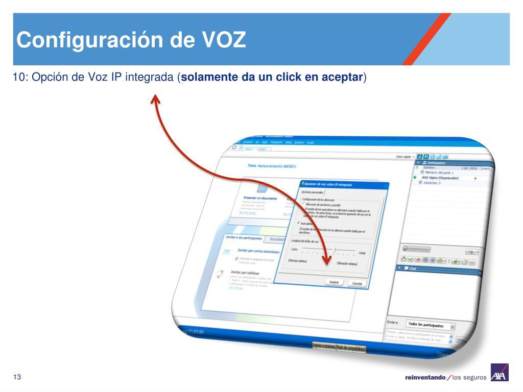 Configuración de VOZ