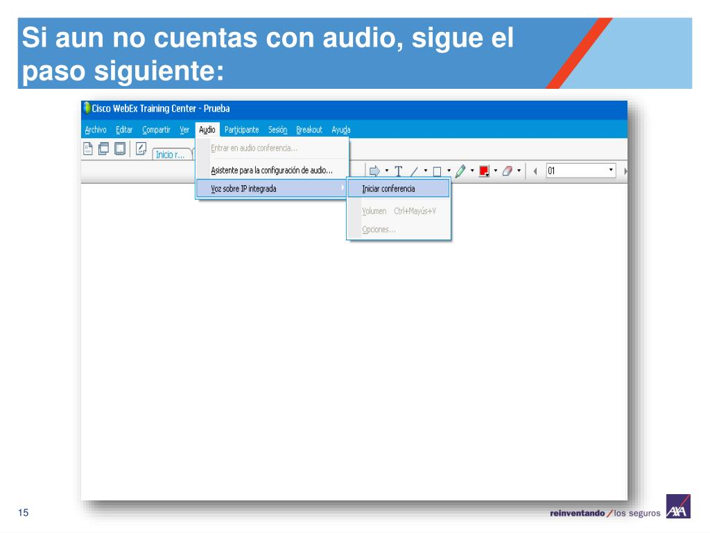 Si aun no cuentas con audio, sigue el paso siguiente: