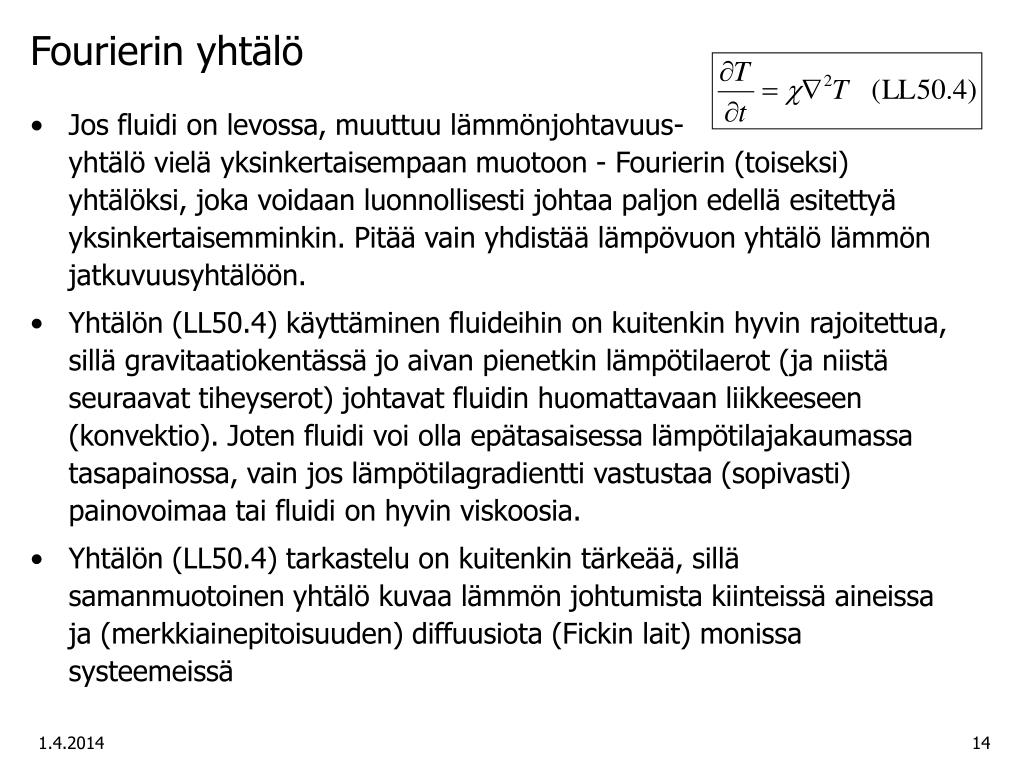 Fourierin yhtälö