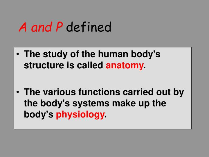 A and p defined