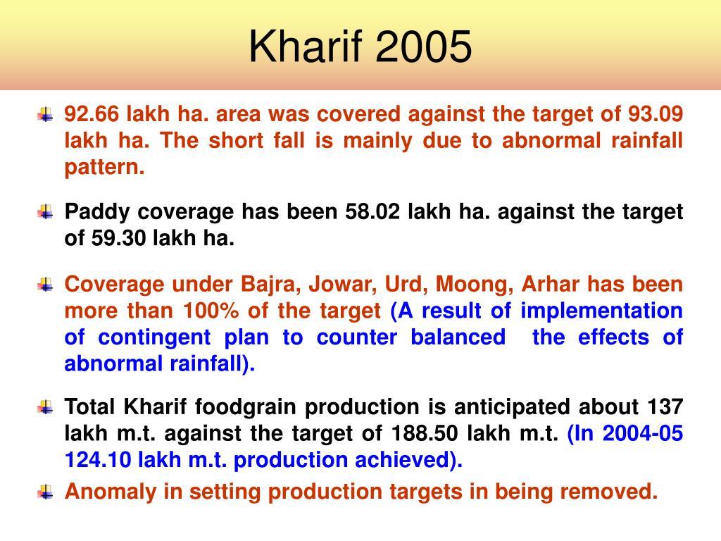 Kharif 2005