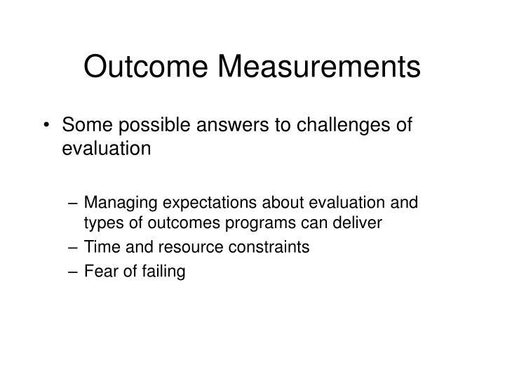 Outcome Measurements